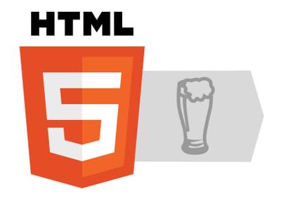 HTML5 beer logo